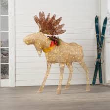 Outdoor Lighted Moose Moose Decoration Figurine Lighted Display