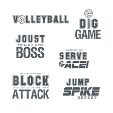 Volleyball Word Sports Word Art Overlays Volleyball