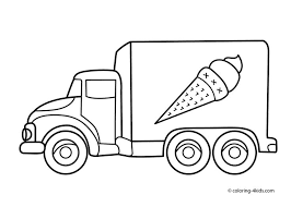ice cream truck coloring pages. Unique Pages 27 Best Cars Images On Drawings Truck Coloring Pages Kindergarten  Worksheets Transportation Page Ice Cream Intended Pages N