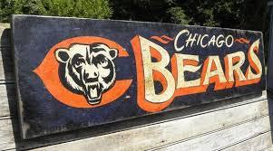wall art awesome chicago skyline canvas bears