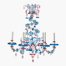 a venetian polychrome glass six light chandelier 20th century sold for 7 500 in the interiors on 25 26 august 2016 at christie s in new york