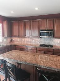 Wonderful Painting Cherry Kitchen Cabinets White Over Nice Wood Inside Ideas