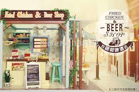 z006 fried chicken and beer miniature dollhouse miniature diy doll house wooden store the best christmas aliexpresscom buy 112 diy miniature doll house
