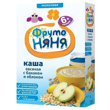 ᐅ <b>ФрутоНяня Молочная овсяная</b> с яблоком и бананом (с 6 ...