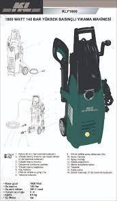Kl KLY1800 Basınçlı Yıkama Makinesi 1800W 140 Bar Fiyatı