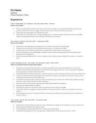 Free Senior Accounting Resume Template Sample Resume Template
