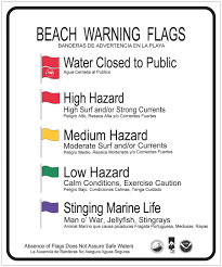 Medical Chart Flag Alert System Beach Warning Flag Program Florida Department Of