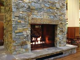 Diy Stacked Stone Over Brick Fireplace Dry Stack Installation Ideas