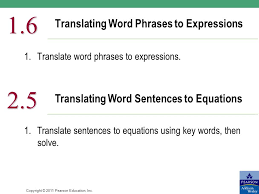 translating word phrases to expressions
