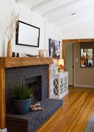 brick fireplace with simple elegance