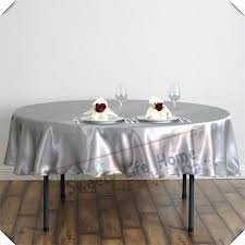 nice silver color 182cm satin tablecloths round table covers table spread for wedding event party hotel decoration fl tablecloth round vinyl tablecloth