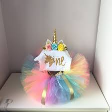 Its My Baby Girl Unicorn Party 1st First Birthday Set Top Colorful