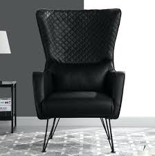 white leather wingback chair mid century faux leather chair black leather tufted wingback chair