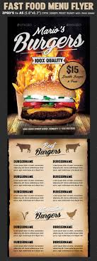 Menu Flyer Template Fast Food Burger Menu Flyer Template By Hotpin GraphicRiver 8