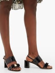 giulia bow embellished patent leather