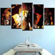 ganesha wall art 5 pieces canvas wall art living room home decor my 5 pieces canvas