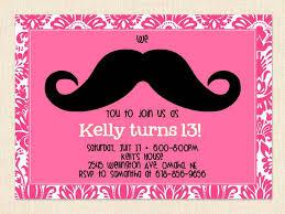 Free 13th Birthday Invitations Free Printable 13th Birthday Party Invitations For Girls Oh