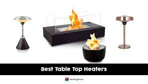7 best table top patio heaters for cozy