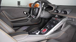 huracan interior orange. tlelamborghini huracan rental miami by taylored limousines and exotic car interior orange
