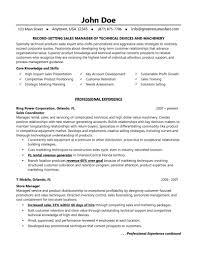 Resume Territory Manager Resume
