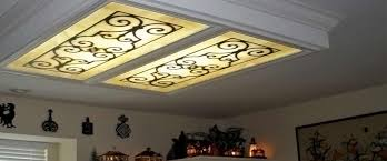 decorative fluorescent light covers kitchen ceiling