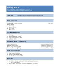 Simple Job Resume Outline First Resume Template For Teenagers Teen Resume Sample For 15 And