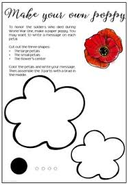 poppy template remembrance day free poppy template by mrs rechts virtual classroom