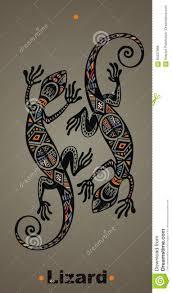 ящерица татуировки иллюстрация вектора иллюстрации насчитывающей