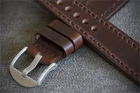 20mm brown horween chromexcel leather watch band