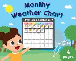 Weather Chart For Preschool Classroom Printable Weather Chart Preschool Worksheets Teaching Resources Tpt