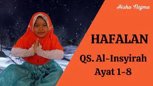 Lomba Hafalan Aisha Najma Tsaaqiba TKA1 Permata Bangsa Karangmojo - YouTube