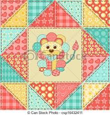 Lion quilt pattern. Lion. vintage patchwork seamless... vector ... & Lion Quilt Pattern Vector Adamdwight.com