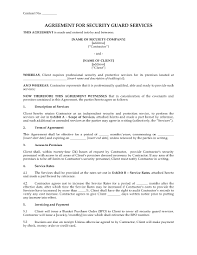 Usa Security Guard Services Agreement | Legal Forms And Business ...
