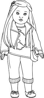 American Doll Coloring Pages Coloringsuite Misc Coloring Pages