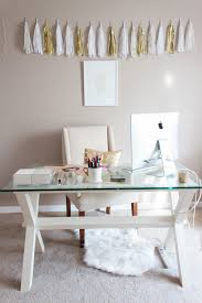 glass desk for office. Small Home Office Design Ideas - Glass Desk For