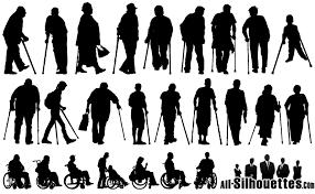 25款残疾人物剪影矢量素材 矢量