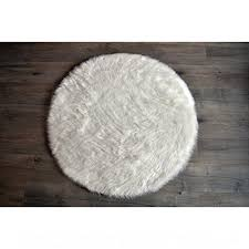 machine washable faux sheepskin white rug 42 round soft and silky perfect for baby s room nursery playroom 42 round l0c5pl3mh