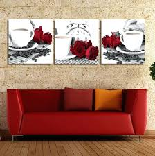 kitchen red canvas wall art