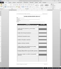 Checklist Design Template Design Review Checklist As9100 Template As1080 4
