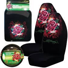 car seat covers and accessories com ed hardy dedicated to the one i love 5 pc set seat