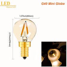 Us 159 20 Offganriland Led E14 Dimmable Gold Mini Tubular Chandelier Night Lamp 05w 1w 2w 2200k E12 220v Vintage Led Filament Light Bulbs In Led