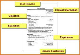 ... Exclusive How To Make A Work Resume 6 How To Make A Simple Resume Job  ...