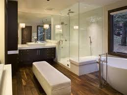 Wood Tile Shower With Pebble Floor Bathroom Designs Ideas In Pros ...