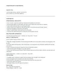 Sample Resume Of Waitress Cover Letter Waitress Example Cover Letter ...