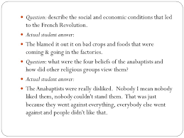 agenda short answer essay questions from midterm question  question describe the social and economic conditions that led to the french revolution