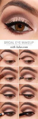 wedding makeup for brown eyes lulus how to bridal eye makeup tutorial