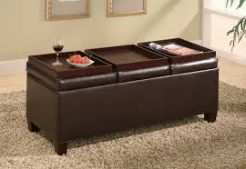 Image Of: Ottomans Coffee Table With Brown