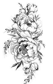 тату цветок пион значение для девушек где лучше нанести значение