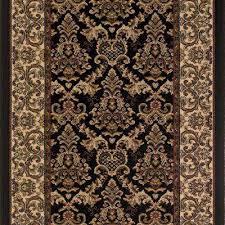 kurdamir elegante black 33 in x your choice length stair runner