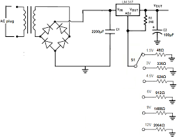 how to build a battery eliminator battery eliminator schematic diagram
